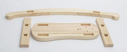 Wooden parts to produce rocking horse Čenda 28