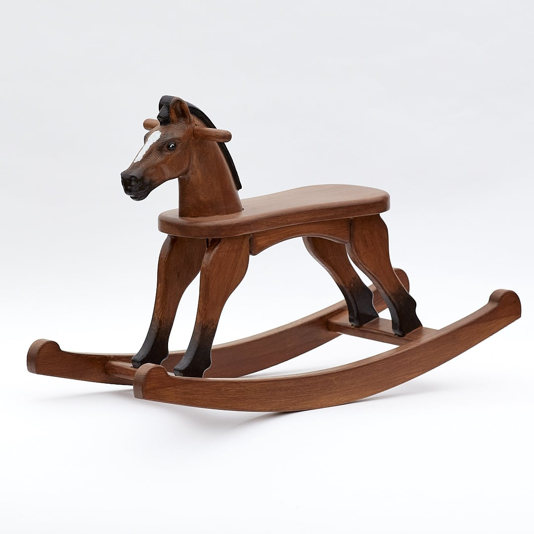 Wooden Rocking Horse, Bay colour finish