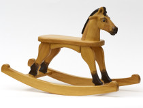 Wooden Rocking Horse, Tan colour finish