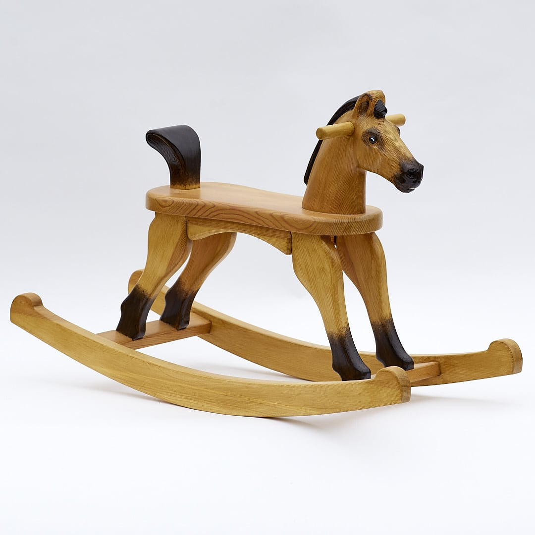 Amazing Ruby Tan - rocking horse with 28cm of seat height