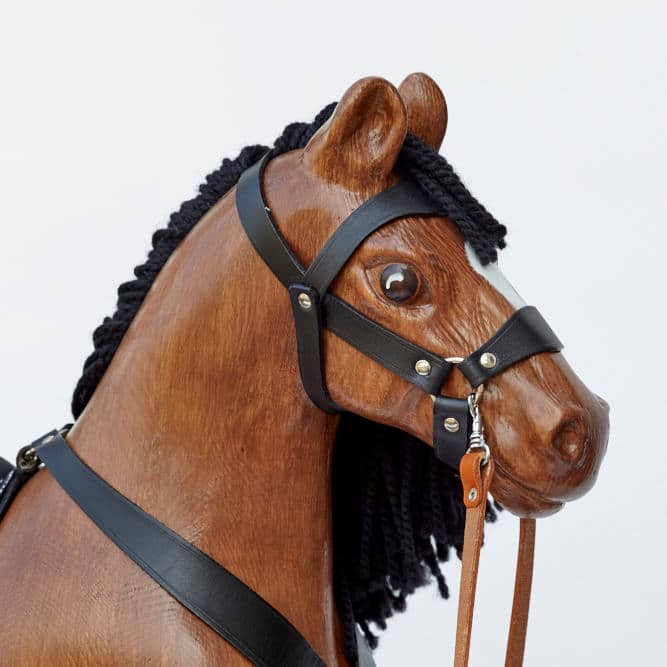 Big wooden rocking horse, Bay color