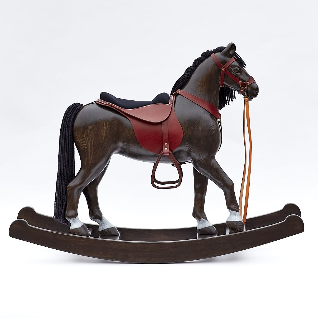 Exlusive big rocking horse Royal Spinel Black ready to be sold