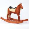 Middle sized wooden rocking horse, chestnut colors