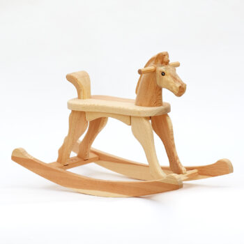 Smaller Rocking Horse Amazing Ruby Rocking Horse with natural surface finish, this variant includes tail