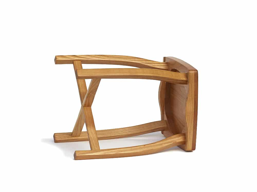 Elegant wooden stool Sella 35 made from Cherry